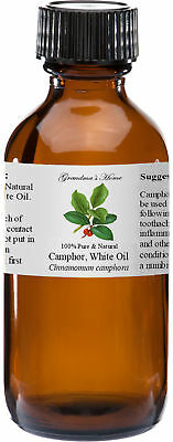 Camphor Essential Oil - 4 oz - 100% Pure and Natural - Free Shipping