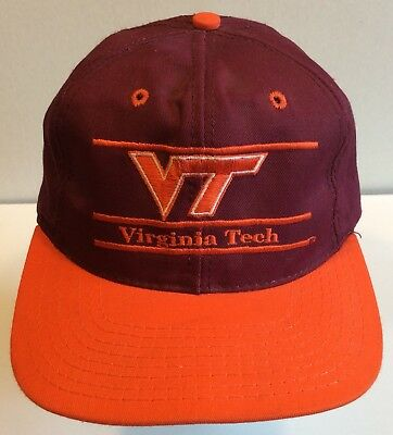 innovative design 460d0 71250 Vtg Virginia Tech Hokies The Game Snapback Cap Hat USA 80s 90s NCAA ACC