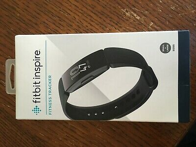 Fitbit Inspire Fitness Tracker (Black) - One Size (S & L Bands Included)