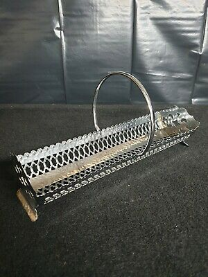 Silver Plated Cracker Trough Biscuit Tray