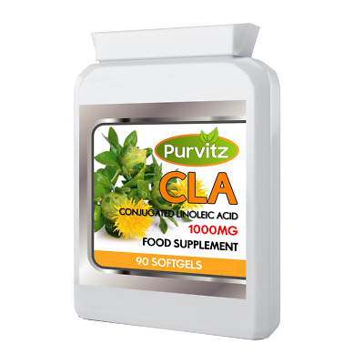 CLA 1000mg Capsules Conjugated Linoleic Acid Weight Loss Diet Capsule Purvitz UK