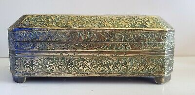 Antique Indian Brass Table Betel Nut Box