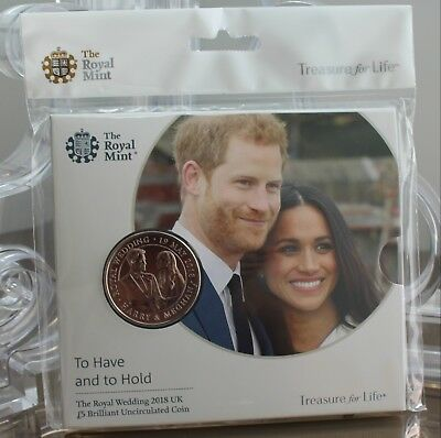 The Royal Wedding 2018 UK £5 Five Pounds BU - BUnc - coin pack - sealed