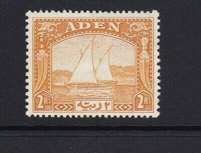 Aden Dhows 2R Yellow Sg10 1937  Lmm Lightly Mounted Mint