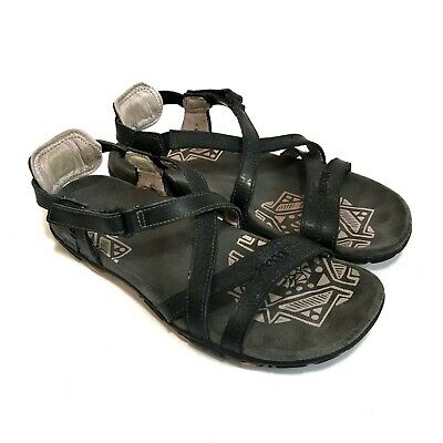 247e9c58c28a WOMENS MERRELL SANDSPUR Rose Leather Sandals Size 9 Brown Black ...