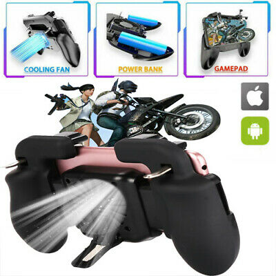 Mobile Phone Game Controller Joystick Cooling Fan Gamepad for PUBG Android IOS R