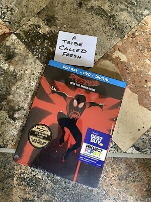 SPIDER-MAN Into The Spider-Verse STEELBOOK Blu-ray + DVD/DIGITAL HD RARE SEALED