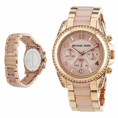 Michael Kors MK5943 Blair Rose Gold Blush Acetate Stainless Women's Watch