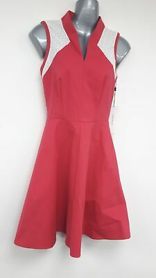 Karen Millen Skater Dress- Cheerleader, 50's Red and White lace UK Size 6 #117