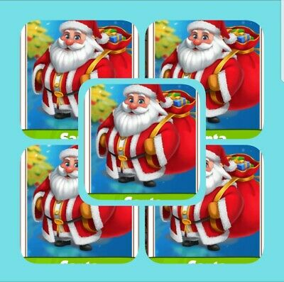 Coin Master Cards 5 x Santa's( Fast Delivery)