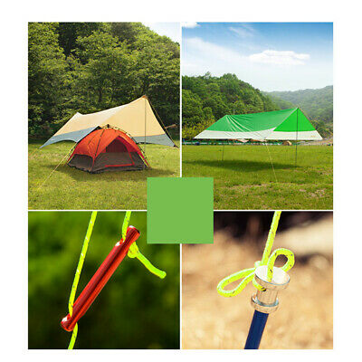 20M Green Tent Rope Nylon Reflective Paracord Wind Rope for Packaging Velarium