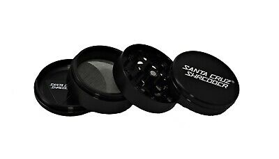 "Large 2.75"" Black 4 Piece SANTA CRUZ SHREDDER Grinder Glossy Finish"