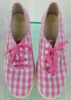 58099f293cec KEDS for KATE SPADE New York Womens Pink Gingham Sneakers Shoes Size 6M NWOB