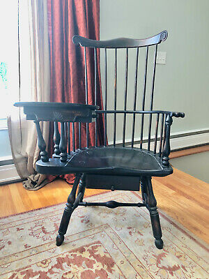 Windsor Writing Chair Signed Numbered Warren Chair Works Bob Barrow REDUCED!!!!!