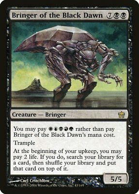 MTG - Bringer of the Black Dawn - Fifth Dawn - X1 - (MP) - FREE SHIPPING