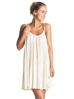 170287b426 Roxy Windy Fly Away Strappy Dress Beach Cover Up NWT - Marshmallow White -  Small