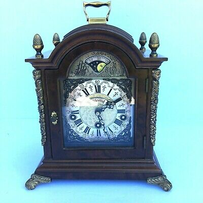 Warmink WUBA Vintage Antique Dutch Mantel Shelf Mid Century Clock Made in Hollan