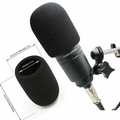Windscreen Pop Filter Foam For Audio Technica AT2020 ATR2500 AT2035 AT4040 Mic