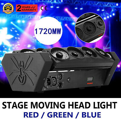 top RGB wide beam laser spider moving head light DMX stage lighting