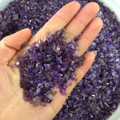 Natural Amethyst Crystal Quartz Chips Crushed Tumbled Stones Healing Reiki Mini