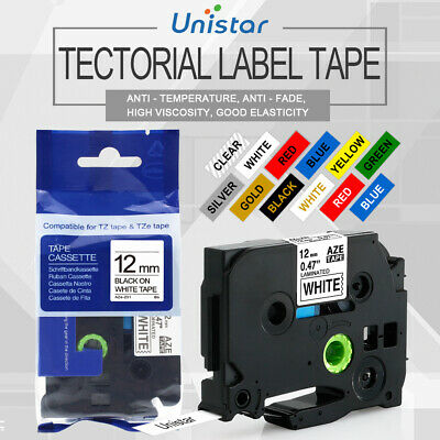Compatible Ptouch Tapes 12mm Label Maker TZ TZe 231 for Brother PTH110 PT-D200