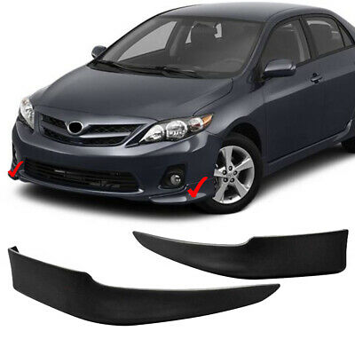 Front Bumper End Cover Driver Side Left Hand LH for 11-12 Toyota Corolla