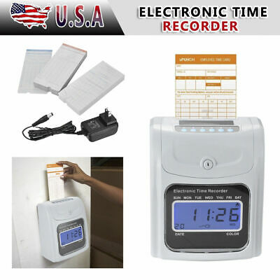 Office Time Clock Bundle Employee Punch Card Electronic Digital