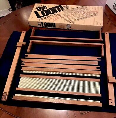 "Vintage NSI The Loom, 20"" Table Top Weaving Loom Original Box, Unused, Early 70s"