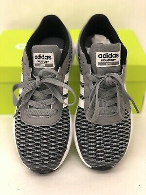 2f296479ab0 adidas Neo Youth Boys Cloudfoam Race Sports Running Trainers - Grey US Size  1