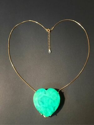 World Largest 150+Ct Natural Neon Glowing Colombian Emerald Muzo Necklace 18Kgl
