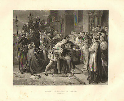 1876 Shakespeare Druck ~ Henry The Eighth ~ Wolsey At Leicester Abbey