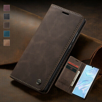 For Huawei P20 P30 Lite Mate 30 Pro Magnetic Wallet Case Card Leather Flip Cover