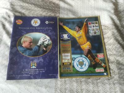 LEICESTER CITY v MANCHESTER CITY x 2 DIFFERENT PROGRAMMES
