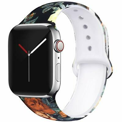 Printed Women Soft Comfortable Silicone Strap for Apple Watch Series 5/4/3/2/1