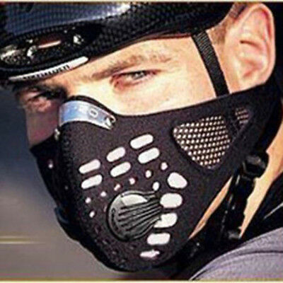 Anti Smoke Dust Air Purifying Face Mask Updated Carbon Filter Multi Layer Unisex