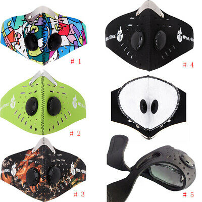 Respirator Half Face Mask Anti-dust With Filtered Activated Carbon for Biking US