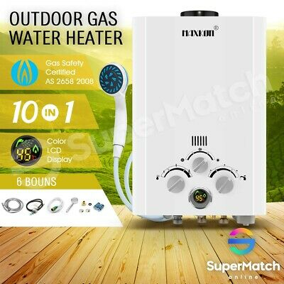 MAXKON 4WD Gas Hot Water Heater Portable Camping Outdoor LPG Instant Shower