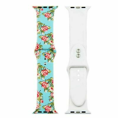 Floral Women Bands Printed Strap For Apple watch Series 5 4 3 2 1 40mm 44mm