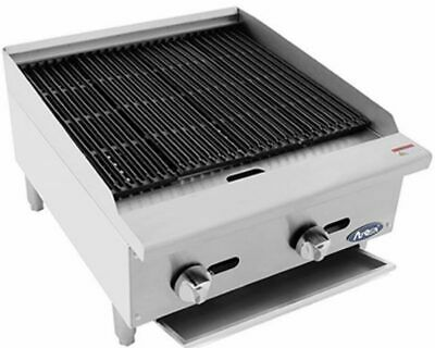 Commercial 2 Burner Char Broiler Grill BBQ Atosa ATRC 24