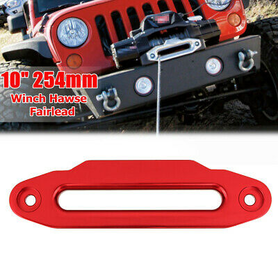 """10"""" 254mm Aluminium Hawse Fairlead 16800lbs For Winch Synthetic Rope Offroad 4WD"""
