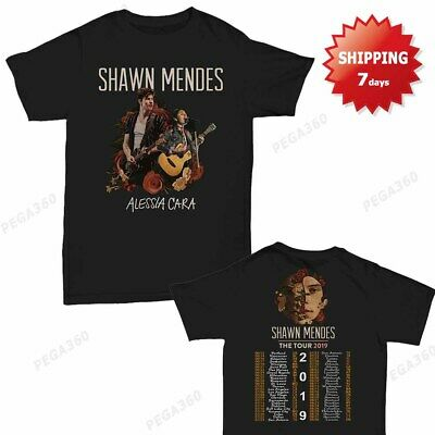 30da6e9ba SHAWN MENDES T Shirt self-titled tour 2019 T-Shirt size Men 2 side ...