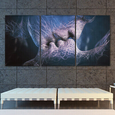 3Pcs Love Kiss Abstract Canvas Print Art Painting Picture Home Room Wall