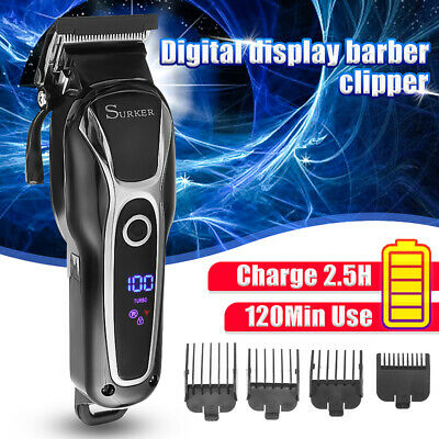 Mens Electric Hair Clippers Trimmer Haircut Shaver Cordless Beard Grooming Set