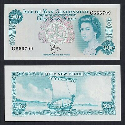 Insel Man / Isle Of Man - 50 New Pence 1979 Fds / UNC B-06