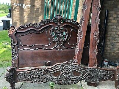 french antique bed 8ft by 6ft