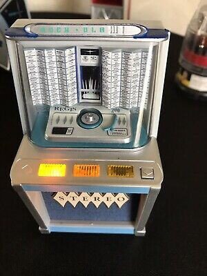 JUKEBOX MINIATURE COLLECTIBLE ROCK-OLA 1495 1961 LIGHTS & PLAYS Lets Twist Again