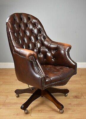20th Century Vintage Leather Desk Chair