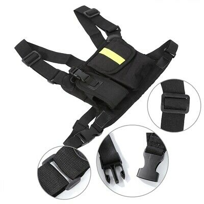 Radio Pocket Chest Harness Nylon Pack Pouch Holster Vest Rig For Walkie Talkie