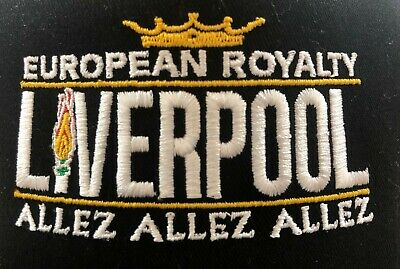 LIVERPOOL BLACK CAP Anfield Football FINALISTS ALLEZ EUROPEAN ROYALTY