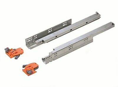 Push open Undermounting Drawer Runner - Full Extension - 3D Slides - 450mm